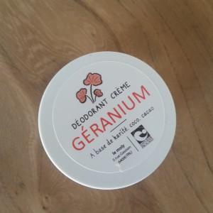 Déodorant Géranium bio et naturel