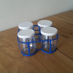 Lot 4 pots à yaourt